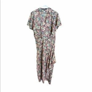 Dawn Joy Fashions Vintage Floral Faux Wrap Dress